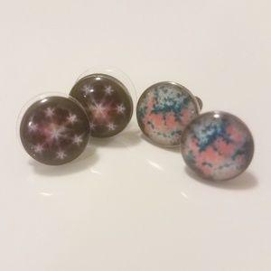 2 pair of stud earrings earrings galaxy southwest